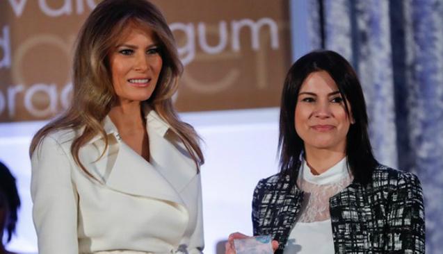 Melanie Trump'tan Saadet Öğretmen'e Uluslararası Kadınlar Cesaret Ödülü