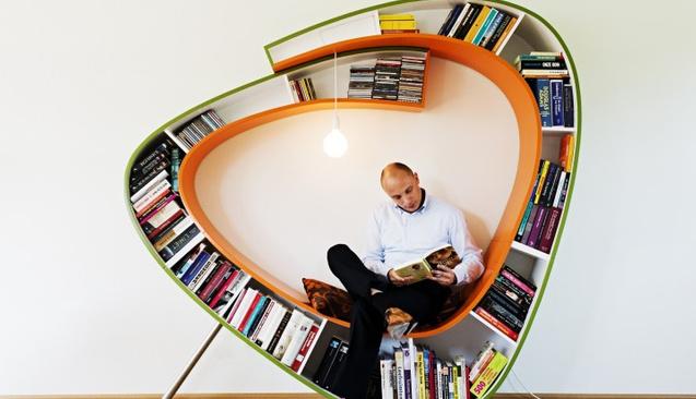 Evi Güzelleştiren Birbirinden Hoş Kitaplık Tasarımları
