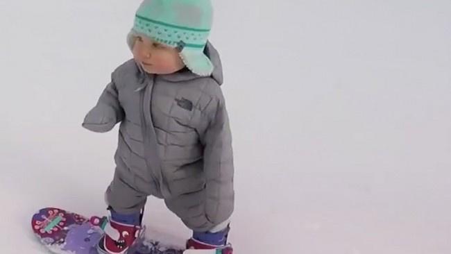 Dünyadaki en sevimli snowboardcu :)