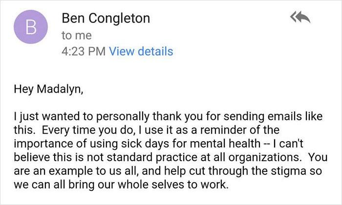 Ruh sağlığı için izin isteyen çalışana patronun müthiş cevabı!